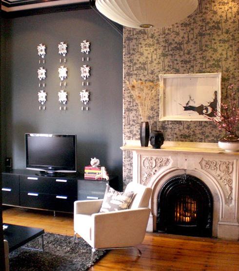 Diy Using Fabric As Wallpaper Forma Living