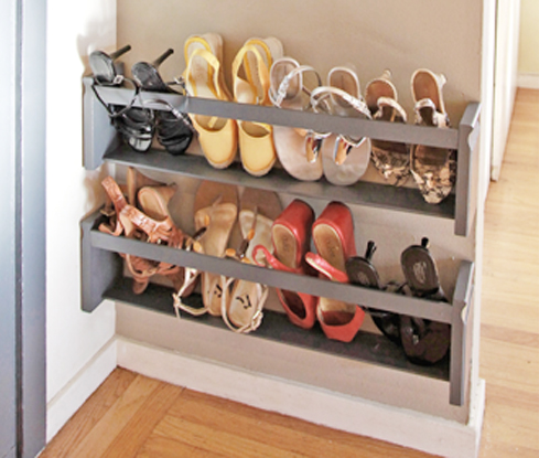 diy 5 steps to a shoe storage solution forma living. Black Bedroom Furniture Sets. Home Design Ideas