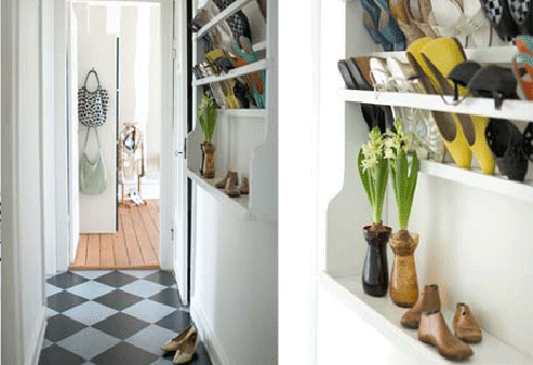 Living Big in Small Spaces Shoe Storage